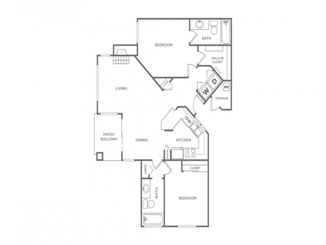 2B   2 bed 2 bath   from 1029 square feet