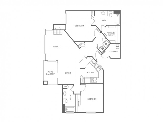 2C   2 bed 2 bath   from 1062 square feet