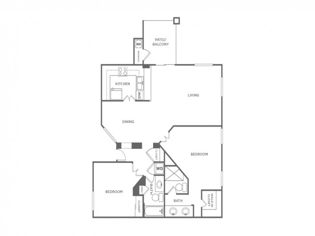 2D | 2 bed 2 bath | from 1105 square feet