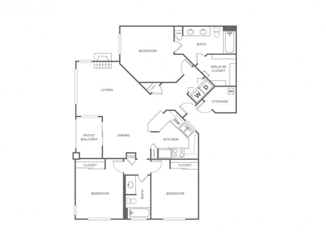 3A   3 bed 2 bath   from 1224 square feet