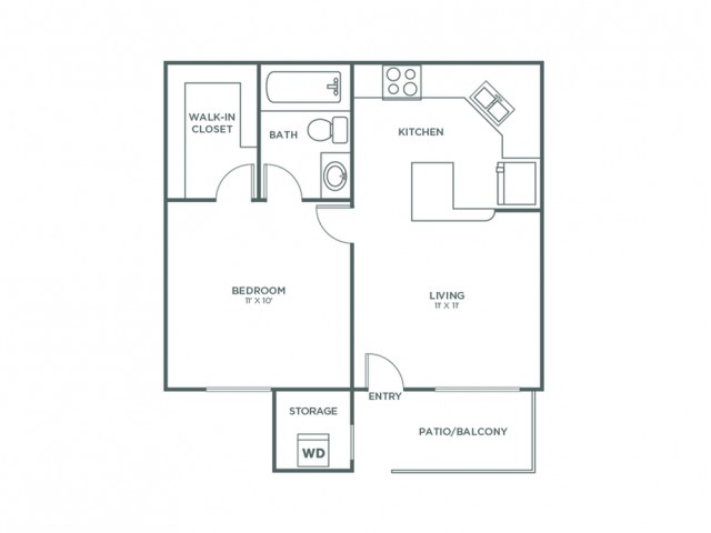 Cimarron | 1 bed 1 bath | from 500 square feet