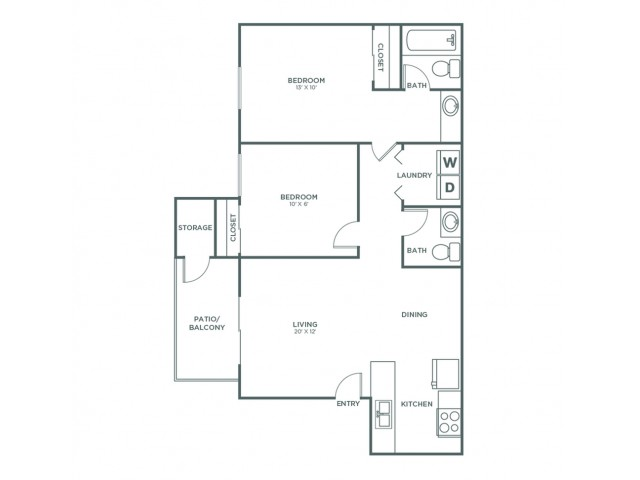Laramie | 2 bed 2 bath | from 850 square feet