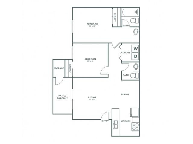 Laramie | 2 bed 2 bath | from 850 square feet