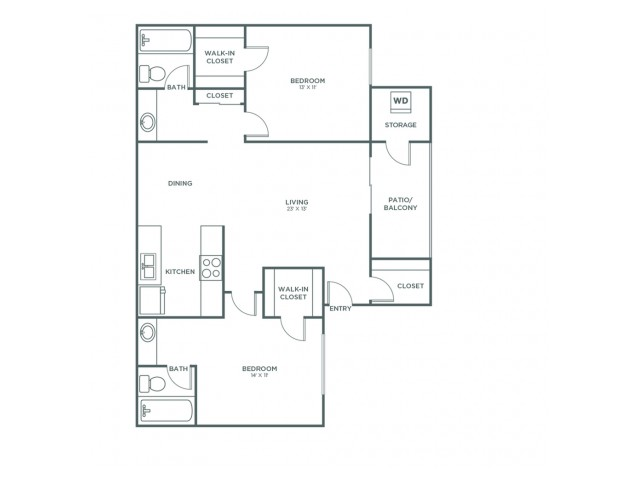 Shenandoah | 2 bed 2 bath | from 1025 square feet