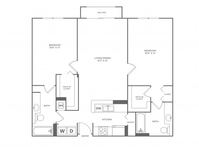 Sky | 2 bed 2 bath | from 1239 square feet