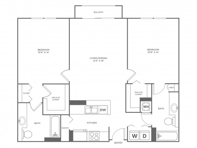 Moon - Diamond | 2 bed 2 bath | from 1120 square feet