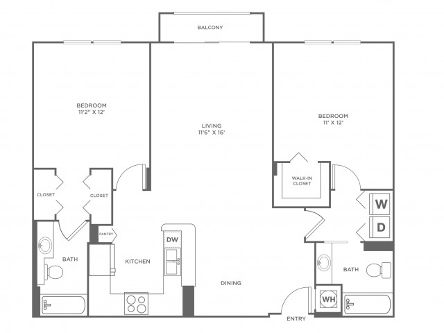 Wave - Diamond | 2 bed 2 bath | from 1120 square feet