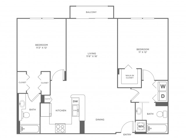 Wave - Platinum | 2 bed 2 bath | from 1120 square feet