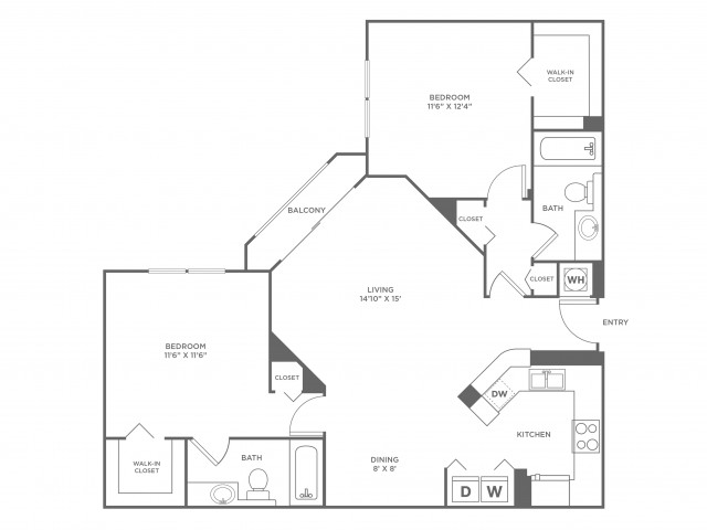 Sea - Platinum | 2 bed 2 bath | from 1130 square feet