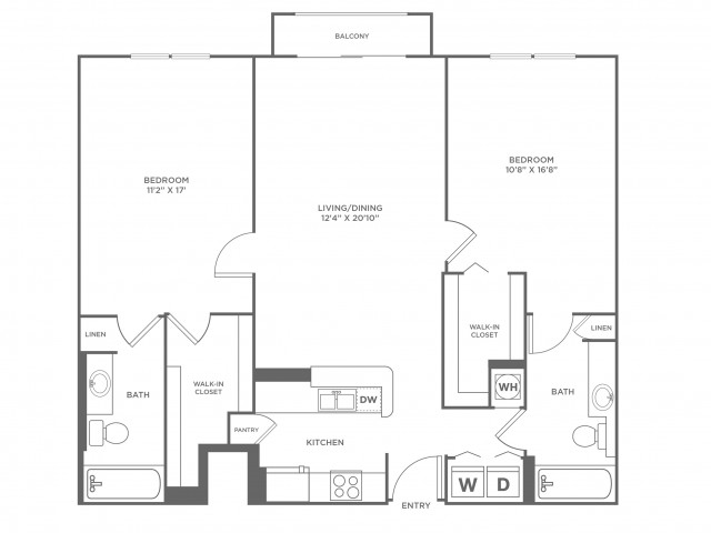 Star - Platinum | 2 bed 2 bath | from 1253 square feet