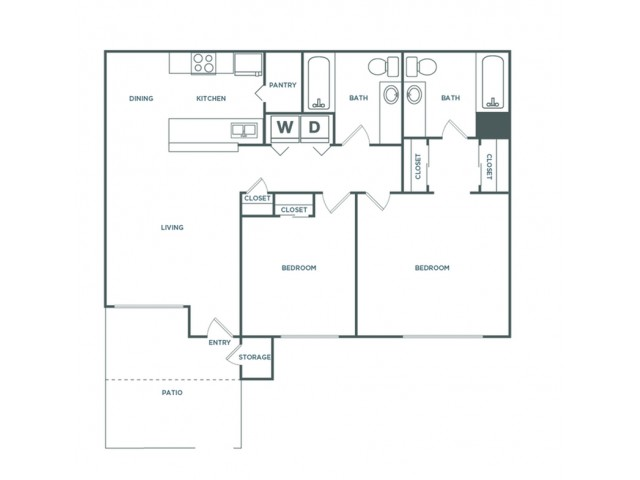 2x2 1037 | 2 bed 2 bath | from 1037 square feet