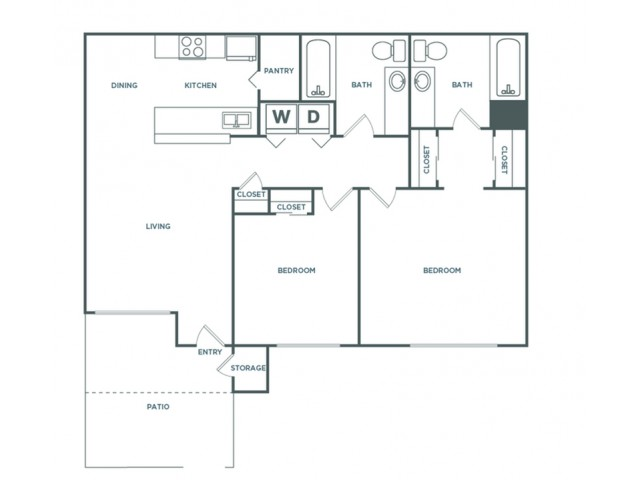 2x2 1141 | 2 bed 2 bath | from 1141 square feet