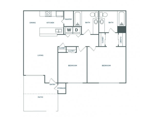 2x2 912 | 2 bed 2 bath | from 912 square feet