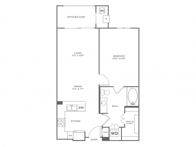 Infinity with Sunroom | 1 bed 1 bath | from 762 square feet