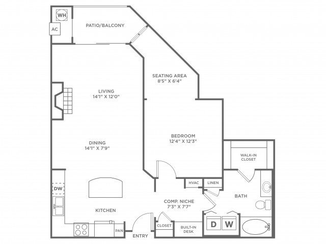 Simplicity 2 | 1 bed 1 bath | from 939 square feet