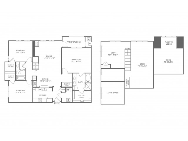 Personality with Loft | 3 bed 2 bath | from 1811 square feet