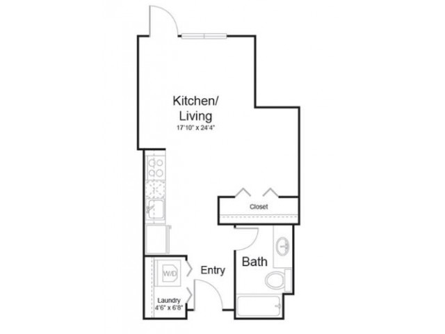 0f1 | Studio1 bath | from 537 square feet