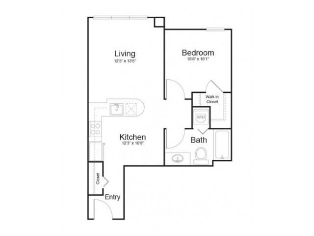 1h1 | 1 bed 1 bath | from 636 square feet