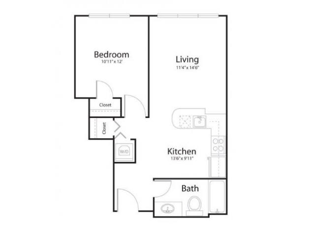 1k1 | 1 bed 1 bath | from 647 square feet