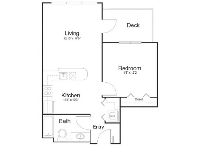 1l1 | 1 bed 1 bath | from 650 square feet