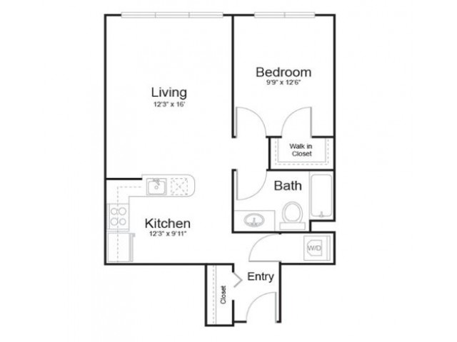 1m1 | 1 bed 1 bath | from 670 square feet