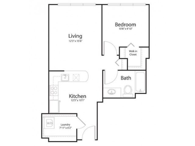 1n1 | 1 bed 1 bath | from 670 square feet