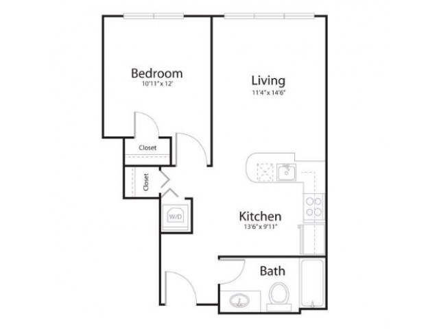 1p1 | 1 bed 1 bath | from 671 square feet