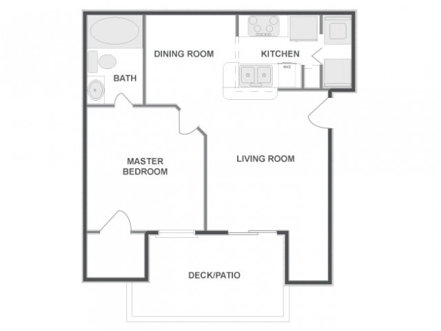 A2 | 1 bed 1 bath | from 643 square feet