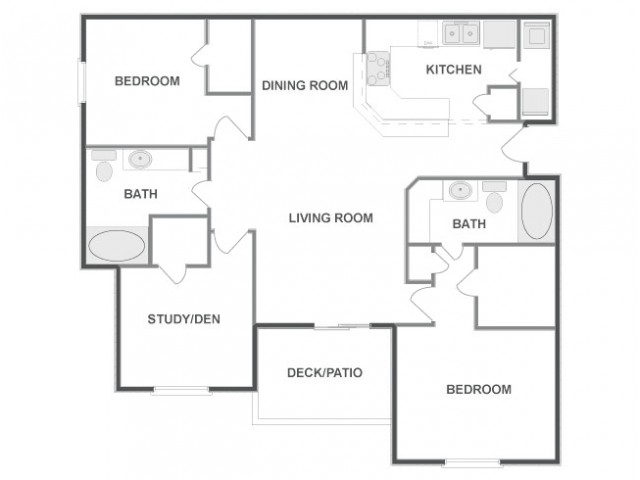 D3 | 3 bed 2 bath | from 1295 square feet