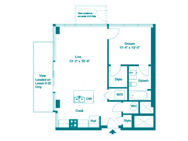 Teal | 1 bed 1 bath | from 728 square feet