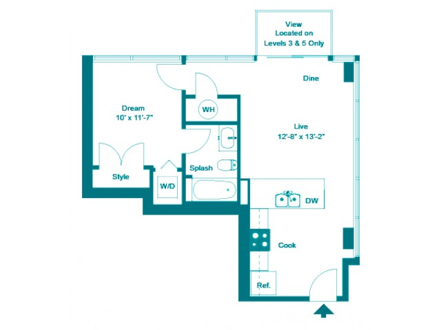 Verdigris | 1 bed 1 bath | from 609 square feet