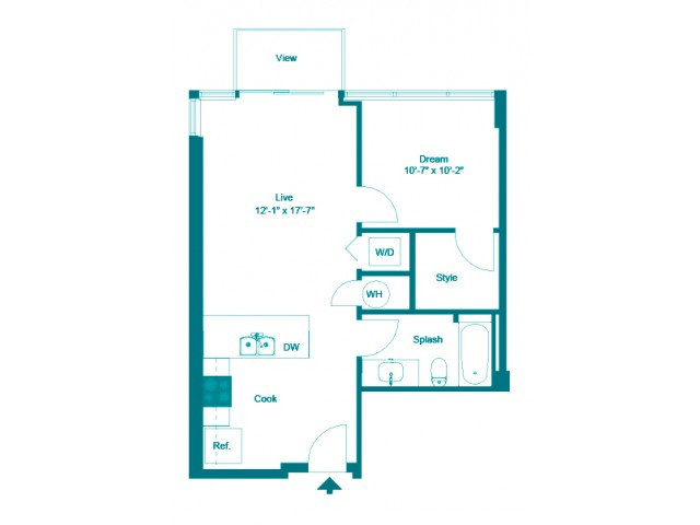 Cerulean | 1 bed 1 bath | from 643 square feet