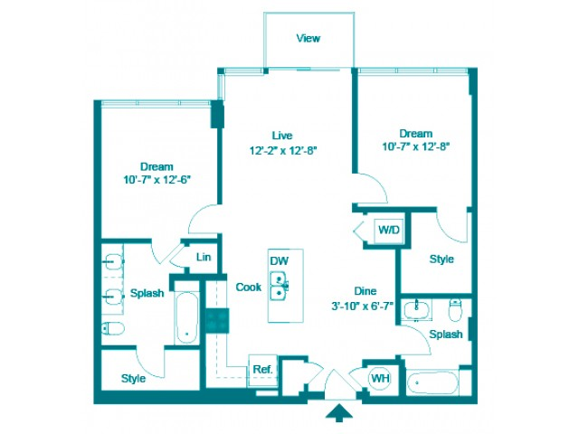 Cobalt | 2 bed 2 bath | from 1054 square feet