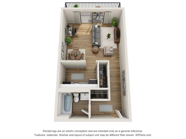 E1 Classic | Studio1 bath | from 364 square feet
