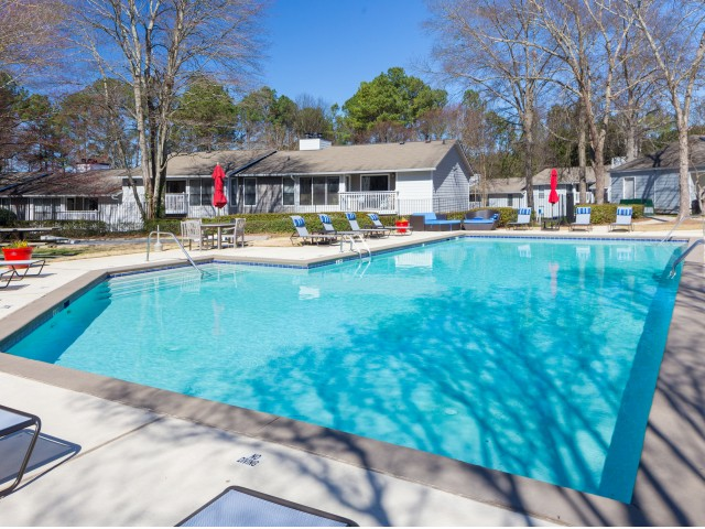 Enjoy our glistening pool with sleek sundeck and picnic areas.