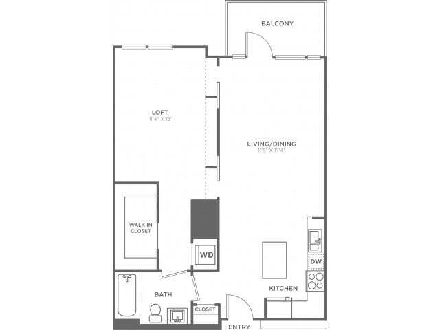 AHC   1 bed 1 bath   from 770 square feet