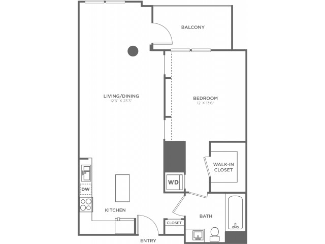 B2   1 bed 1 bath   from 810 square feet
