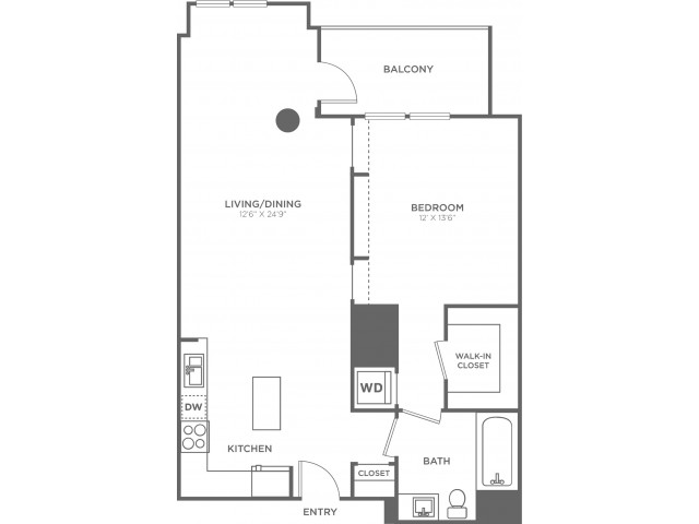 B3   1 bed 1 bath   from 820 square feet