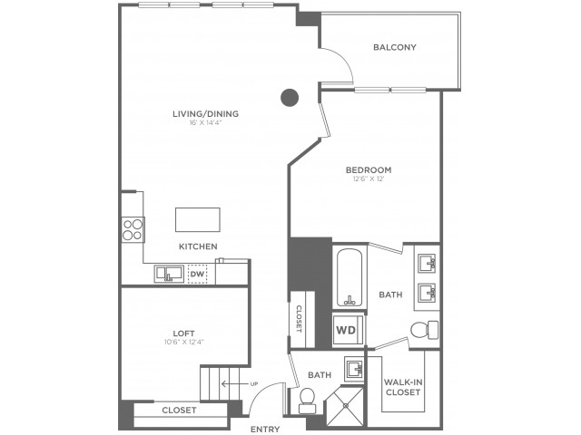 C1   1 bed 2 bath   from 960 square feet