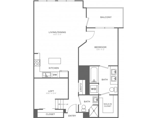 C3   1 bed 2 bath   from 960 square feet