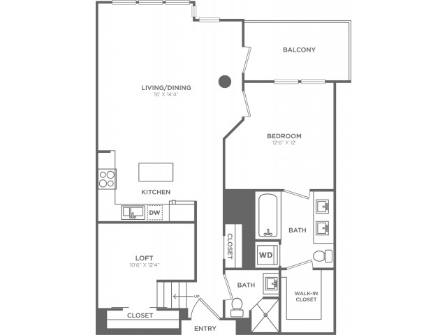 C4   1 bed 2 bath   from 960 square feet