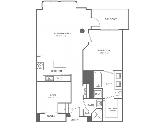 C5   1 bed 2 bath   from 970 square feet