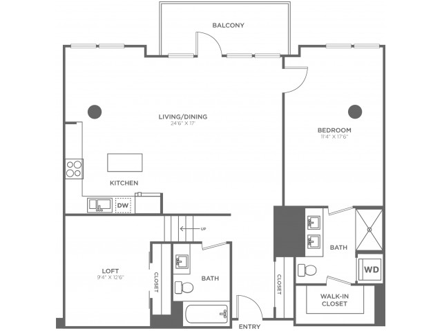 G1   1 bed 2 bath   from 1150 square feet