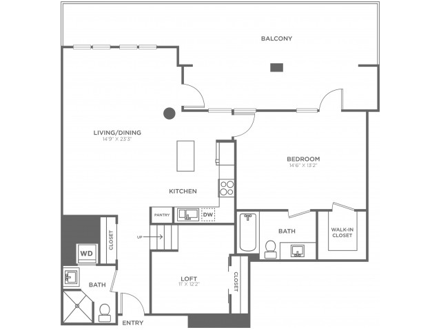 L2   1 bed 2 bath   from 1240 square feet