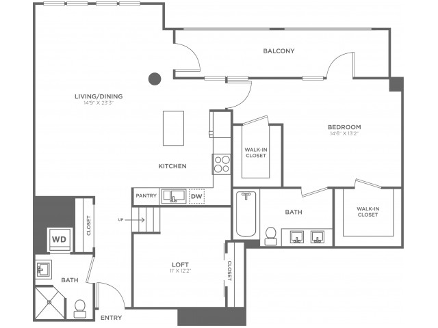 L1   1 bed 2 bath   from 1330 square feet