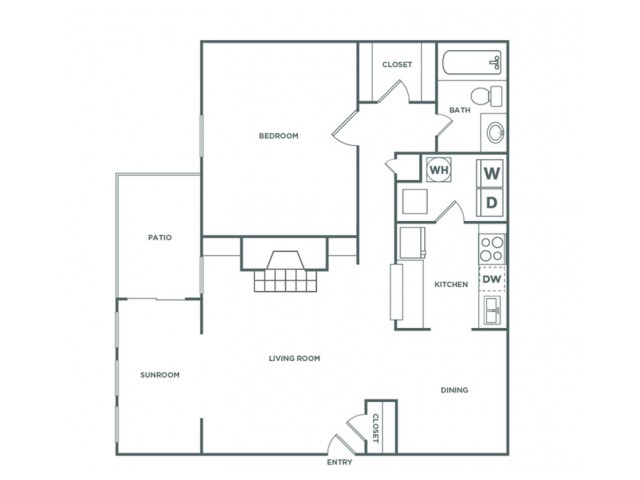 1A - 1 Bedroom - Classic | 1 bed 1 bath | from 860 square feet