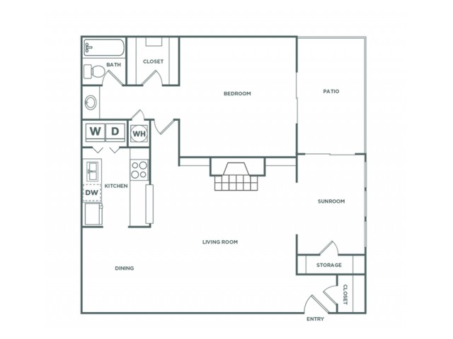 1B - 1 Bedroom - Classic | 1 bed 1 bath | from 1005 square feet