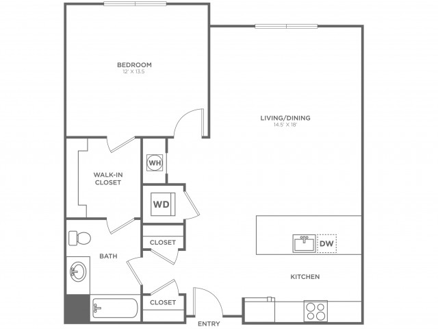 Washington East | 1 bed 1 bath | from 821 square feet