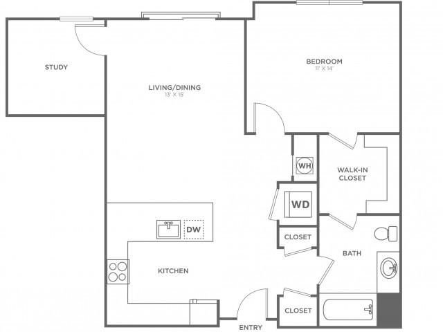 Elm East | 1 bed 1 bath | from 863 square feet