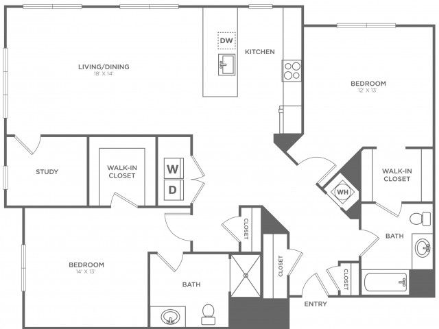 Mulberry East | 2 bed 2 bath | from 1399 square feet